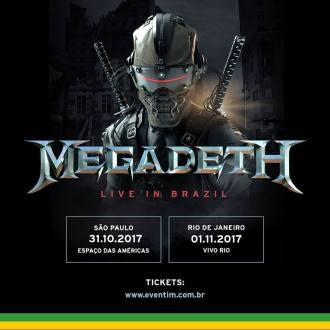 Megadeth no Brasil - Cartaz de Divulgação