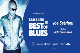 Samsung Best of Blues - Cartaz de divulgação do evento com Joe Satriani em SP