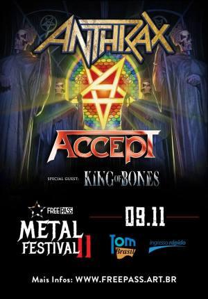 Free Pass Metal Festival II - Cartaz de Divulgação