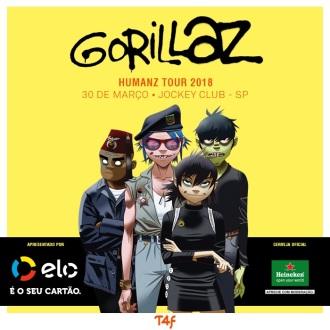 Gorillaz em SP - Cartaz de Divulgação