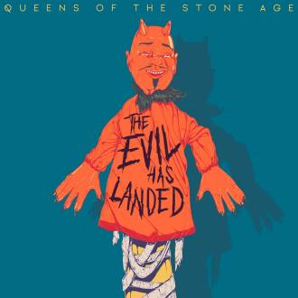 "Queens of the Stone Age - Reprodução da capa do single ""The Evil Has Landed"""