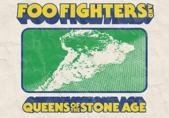 Foo Fighters e QoTSA no Brasil - Cartaz de Divulgação