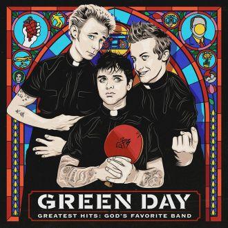 """Green Day - Reprodução da capa da coletânea """"Greatest Hits: God's Favorite Band"""""""