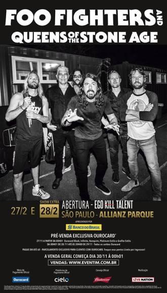 Foo Fighters e QoTSA em SP - Reprodução do Cartaz de Divulgação