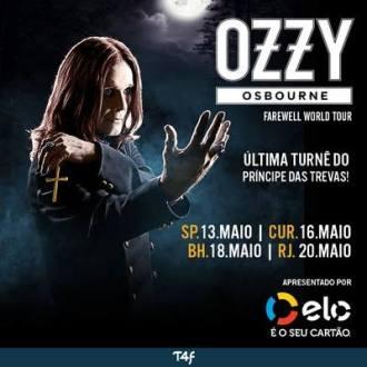 Ozzy no Brasil em 2018 - Reprodução de Cartaz