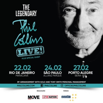 Phil Collins no Brasil - Cartaz de Divulgação