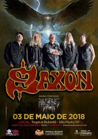 Saxon em São Paulo - Reprodução do Cartaz do show