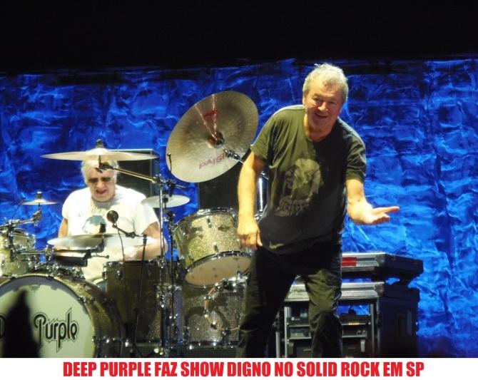 Deep Purple no Solid Rock em SP - Foto: Flavio Leonel