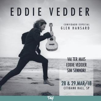 Eddie Vedder em SP - Reprodução do Cartaz dos Shows