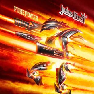 """Judas Priest - Reprodução da capa do disco """"Firepower"""""""
