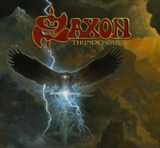 """Saxon - Reprodução da capa do disco """"Thunderbolt"""""""