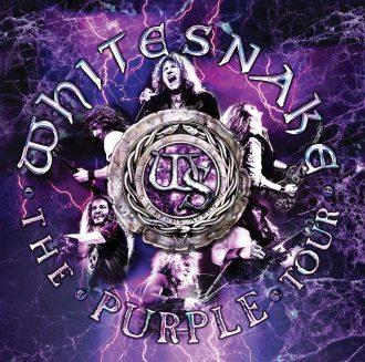 """Whitesnake - Reprodução da capa do disco """"The Purple Tour"""""""