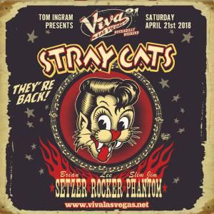 Stray Cats - Cartaz de Divulgação do show de reunião