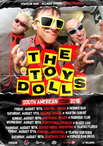 Toy Dolls - Cartaz de Divulgação da turnê na América do Sul