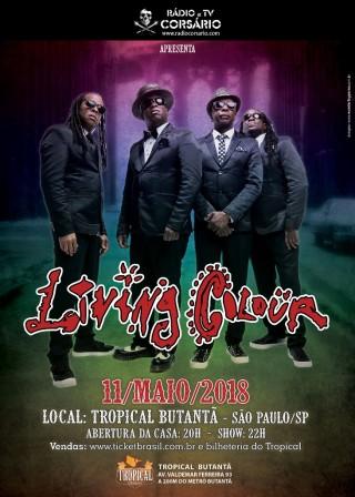 Living Colour - Reprodução do cartaz do show em SP