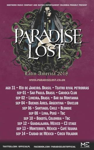 Paradise Lost Tour - Cartaz de Divulgação