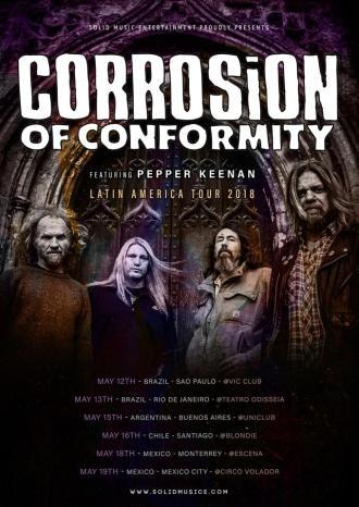 Corrosion of Conformity - Reprodução do cartaz de divulgação da turnê