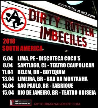 D.R.I. - Cartaz da turnê Sul-Americana