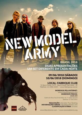New Model Army em SP - Reprodução do cartaz do show