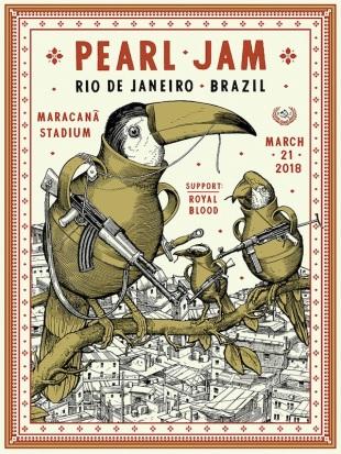 Pearl Jam no Rio - Reprodução de Cartaz