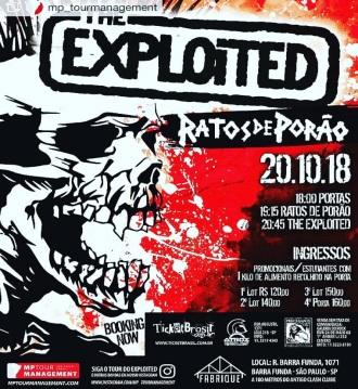 The Exploited em SP - Cartaz de Divulgação do show