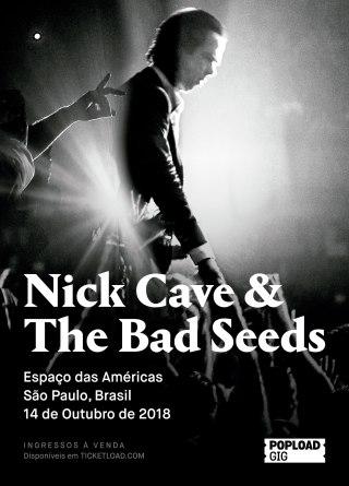 Nick Cave & The Bad Seeds em SP - Cartaz de Divulgação
