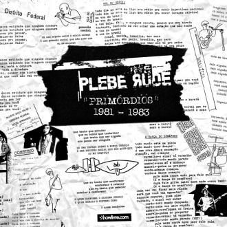 """Plebe Rude - Reprodução da capa de """"Primórdios"""""""