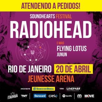 Radiohead no Soundhearts Festival no Rio - Reprodução de Cartaz