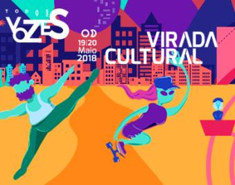 Virada Cultural 2018 - Reprodução de parte do Cartaz