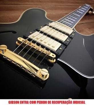 Gibson - Reprodução de foto de exemplar de guitarra