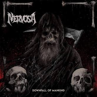 """Nervosa - Reprodução da capa do disco """"Downfall Of Mankind"""""""