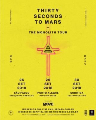 30 Seconds to Mars no Brasil - Cartaz de Divulgação