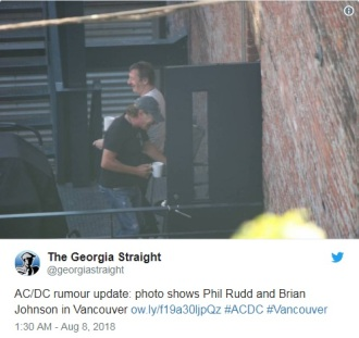 Reprodução de foto do The Georgia Straight publicada no Twitter