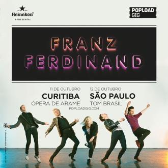 Franz Ferdinand - Reprodução do cartaz dos shows em Curitiba e SP