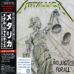 ...And Justice For All - Capa da Versão Japonesa