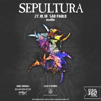 Sepultura em SP - Cartaz de Divulgação do Show