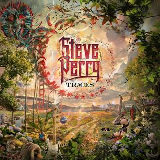 """Steve Perry - Reprodução da capa do disco """"Traces"""""""