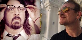 Dave Grohl e Bono - Fotos: Divulgação