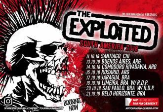 The Exploited - Cartaz da Turnê pela América do Sul em 2018