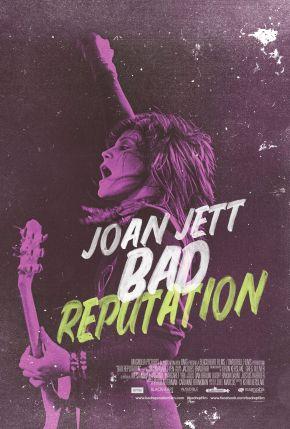 """Joan Jett - Reprodução do cartaz do documentário """"Bad Reputation"""""""