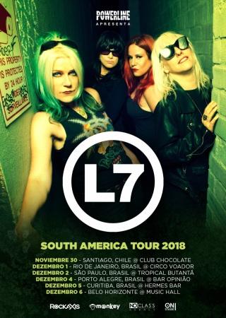 L7 - Cartaz da Turnê SulAmericana