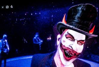 """""""Mr MacPhisto"""", personagem do U2, em show da banda - Foto: Divulgação"""