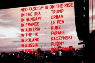 Telão do show de Roger Waters em SP no dia 9 de outubro - Foto: Reprodução Twitter