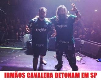 Irmãos Cavalera em SP - Foto: Divulgação Instagram Cavalera Conspiracy