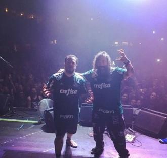 Max e Igor Cavalera em SP - Foto: Divulgação Instagram