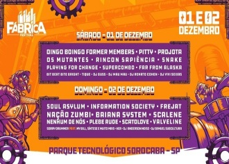 Fabrica Festival - Cartaz de Divulgação