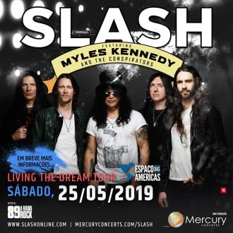 Projeto Solo de Slash - Cartaz de Divulgação do show em SP