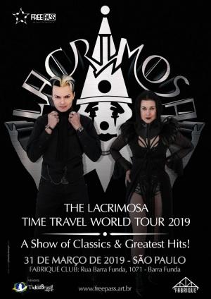 Lacrimosa em SP - Reprodução do cartaz do show