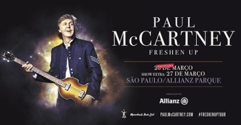 Paul McCartney em SP - Cartaz do show extra