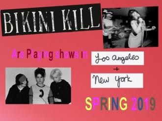 Bikini Kill - Reprodução de cartaz de shows de retorno